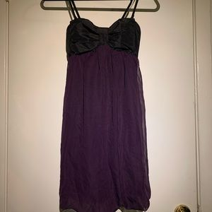 Bow Top Flowy Purple Dress